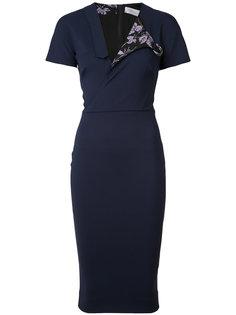 асимметричное платье-рубашка Victoria Beckham
