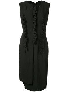 платье шифт с рюшами Comme Des Garçons