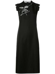 платье шифт с вышивкой Maison Margiela