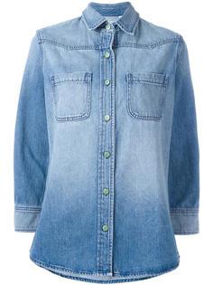 джинсовая рубашка с нашивкой на спине Sandrine Rose
