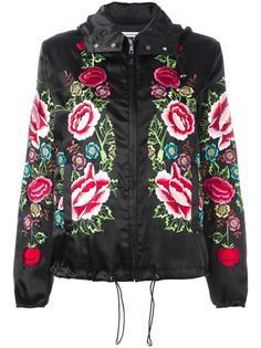 куртка с капюшоном и цветочной вышивкой P.A.R.O.S.H.