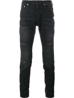 байкерские джинсы с рваными деталями Neil Barrett