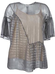 блузка с принтом Stella McCartney