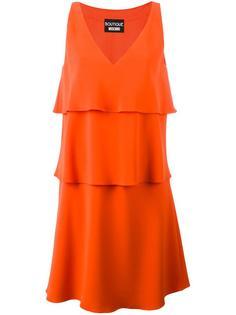 многослойное платье с V-образным вырезом Boutique Moschino