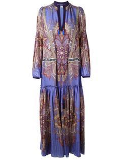 платье макси с узором пейсли Etro