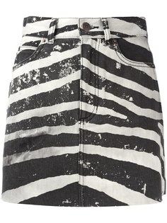 мини-юбка с зебровым принтом Marc Jacobs