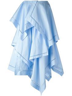 юбка макси с панельным дизайном  JW Anderson