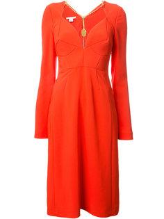 приталенное платье с цепочной отделкой Antonio Berardi