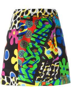 юбка А-образного силуэта с узором Moschino