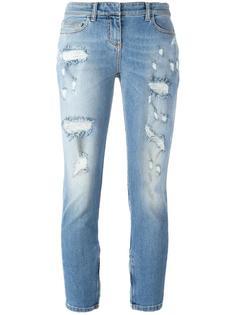 укороченные джинсы с рваными деталями Faith Connexion