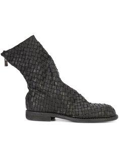 ботинки с плетеным дизайном Guidi