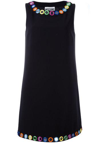 платье-шифт с зеркальными элементами Moschino