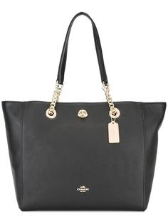 сумка-тоут с цепочными деталями Coach