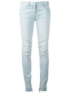 джинсы скинни с молниями Balmain