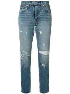 джинсы прямого кроя с потертой отделкой Levis Levis®