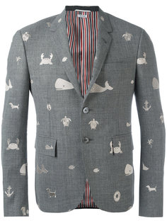 пиджак с вышивкой Thom Browne