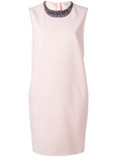 платье с вышивкой на горловине Lanvin