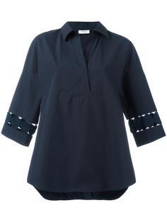 рубашка с перфорированным дизайном  Akris