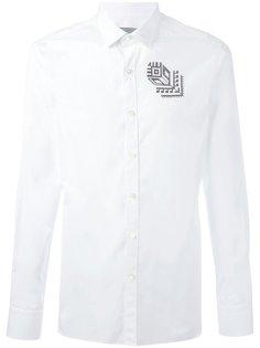 рубашка с вышивкой розы Lanvin