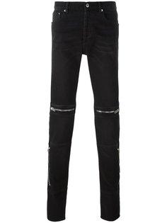 джинсы кроя слим с молниями Givenchy