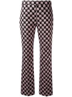 жаккардовые брюки с цветочным принтом Giamba