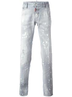 джинсы с принтом брызг краски  Dsquared2
