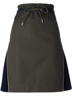 юбка с плиссировкой по бокам Sacai