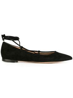 балетки на шнуровке Gianvito Rossi