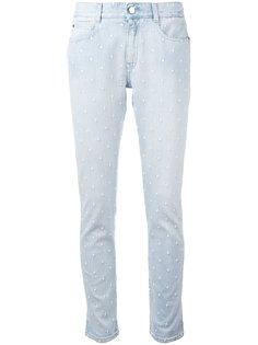джинсы скинни с вышивкой звезд Stella McCartney