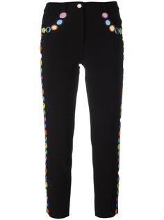 брюки с зеркальными элементами Moschino