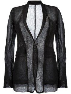 прозрачный пиджак в рубчик Rick Owens