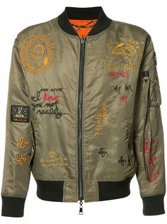 двухсторонняя куртка бомбер с вышивкой Haculla