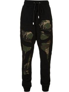 спортивные брюки с камуфляжными деталями Haculla