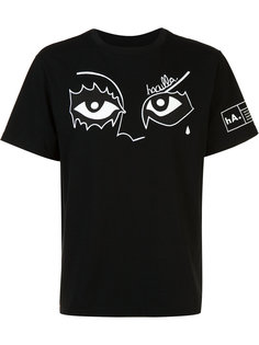 футболка с принтом в виде глаз Haculla