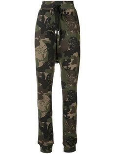 спортивные брюки с камуфляжным узором Haculla