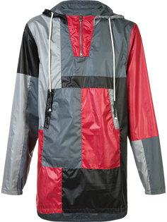 пальто дизайна колор-блок с капюшоном Mostly Heard Rarely Seen