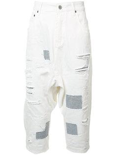 укороченные джинсы с потертой отделкой Mostly Heard Rarely Seen