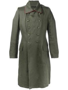 двубортное пальто в стиле милитари Ann Demeulemeester