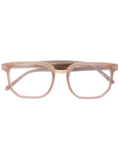 очки в шестиугольной оправе Linda Farrow