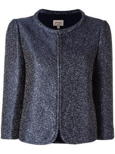 пиджак с блестящей отделкой Armani Collezioni