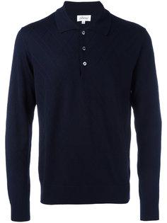 футболка-поло с зигзагообразным узором Brioni