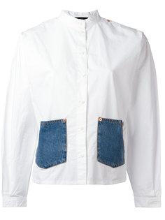 рубашка с джинсовыми карманами Diesel