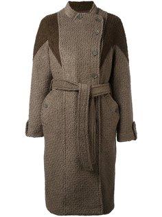 пальто со смещенной застежкой и поясом Diesel