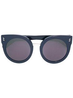объемные солнцезащитные очки в круглой оправе Stella Mccartney Eyewear