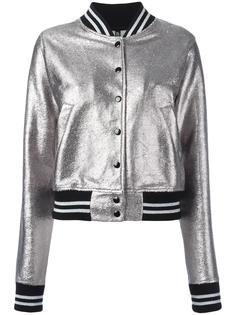 куртка-бомбер с отделкой металлик R13