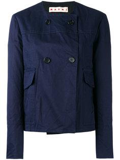 укороченная куртка без воротника Marni