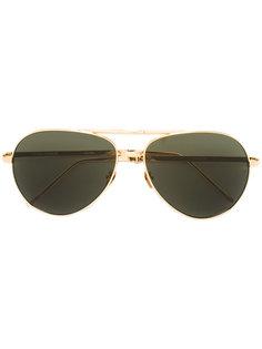 """складные солнцезащитные очки """"авиаторы """" Linda Farrow"""