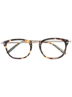 очки с эффектом черепашьего панциря Oliver Peoples