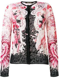 кружевной приталенный пиджак Roberto Cavalli