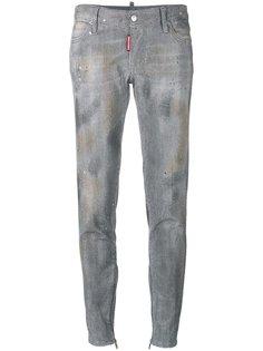 джинсы скинни с заклепками Dsquared2